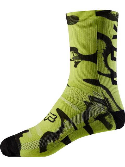 "Fox 8"" Print Trail Socks Men yellow/black"
